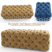 Rectangle And Square Ottoman set