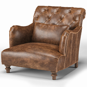 Cisco Brothers Acacia British Industrial Rustic Accent Chair