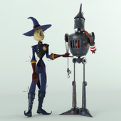 Scarecrow and the Tin Woodcutter (Scarecrow and Woodcutter Oz)