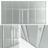 Glass fireproof doors and partitions Nayada