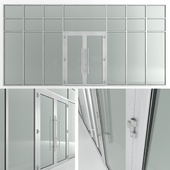 Glass fire doors and partitions Nayada. Rack profile.