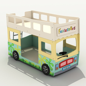 Children's bunk bed-bus.