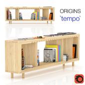 The bookcase `tempo` by ORIGINS