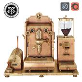 Steampunk copper coffee machines