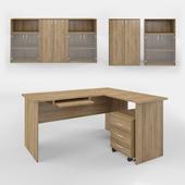 Computer Desk and Storage Set 3D Models Vray