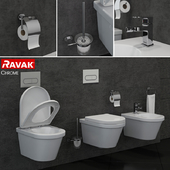 RAVAK Chrome toilet and bidet