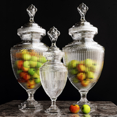 Vase Harcourt Glass L, S