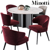 Minotti Aston Dining Chair Lou Dining Table