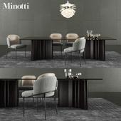 Minotti Lou Dining Table & Fil Noir Dining Chair