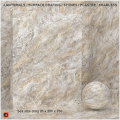 4 materials (seamless) - stone, plaster - set 4