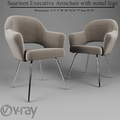 Saarinen Executive Armchair with metal legs