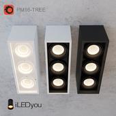 Накладной светильник CUB-TREE 3x8 Вт