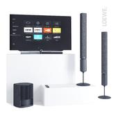 LOEWE TV set Bild 7.55 and speakers Klang 5