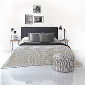 Bed Kenay Kina cabecero gris oscuro