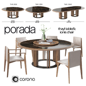 Porada Thayl Table and Ionis Chairs