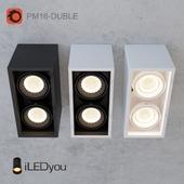 Накладной светильник CUB-DUBLE 2x8 Вт