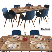Table and chairs Django and Morrison IModern