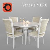 Table and chairs Venezia Merx