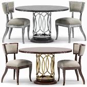 Sabrina Round Dining Table, Sadowa Dining Chair
