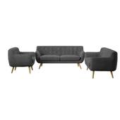 Meggie 3 Piece Scandinavian Living Room Set