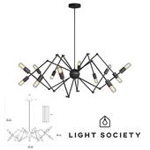 Light Society 12-Light Arachnid Chandelier (LS-C111-BLK)