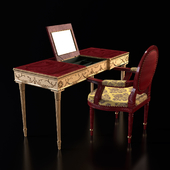 Dressing table and armchair Monarche, Freedom