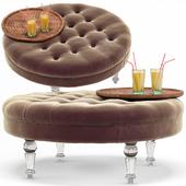 Elisa Modern Classic Round Ottoman
