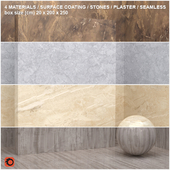 4 materials (seamless) - stone, plaster - set 10