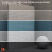 5 materials (seamless) - stone, brick - set 11