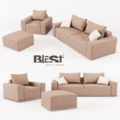 OM Set from modular sofa, armchair and padded stool BL_101 from the manufacturer Blest TM