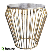 Caleb stainless steel coffee table gold