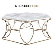 Interlude Home Saybrook Gold Coffee Table