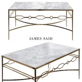 Grace Gold Leaf and Marble Coffee Table