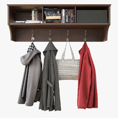 Wall Shelf With Clothes