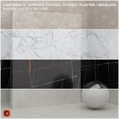 4 materials (seamless) - stone, plaster - set 12