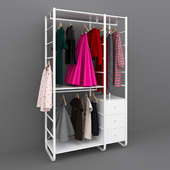 Elvarli rack with clothes
