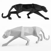 A figurine of a panther