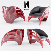 KARPA_TRITON_armchair RED