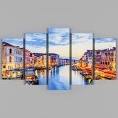 Modular picture Evening Venice