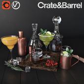 Alсohol set Crate & Barrel