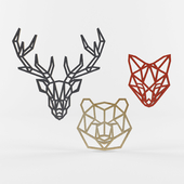 Decorative figurines of animals from plywood