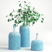 Flower vase Ornament blue