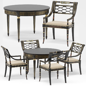 Sophy's Regency Armchair, Gustavian Round Dining Table