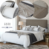 Zara Home Linen Collection Bedding + Greco Strom Bed # 7