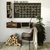Рабочий стол с декором