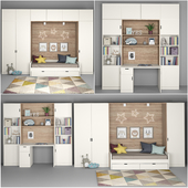 Furniture for children's room with decor