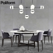 Poliform Concorde Table & Grace Chair 2