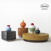 BAXTER LOREN coffee tables with Matteo Thun vases