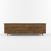 Wood console, side board, cabinet
