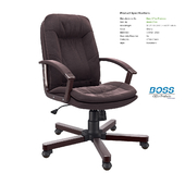 Office chair Boss Versailles Executive Chair With Cherry Wood Finish